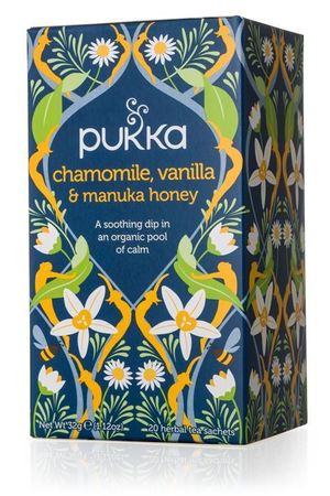Ekologiczna Herbata PUKKA z Rumiankiem, Wanilią i Miodem Manuka