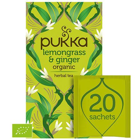 Ekologiczna Herbata PUKKA BIO trawa cytrynowa w połączeniu z imbirem na dobry nastrój.