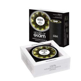 """HOUSE OF GLAM® """"Black Opium"""" – Modułowa sojowa świeca  o wyrafinowanym  męskim zapachu."""
