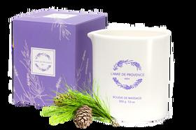 L'Amie de Provence naturalna świeca do masażu o świeżym zapachu drzewa cedrowego (cèdre).