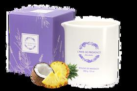 L'Amie de Provence naturalna świeca do masażu o relaksującym zapachu pina colada (piña colada).