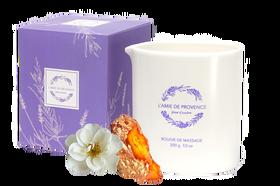 L'Amie de Provence naturalna świeca do masażu o kwiatowym zapachu ambry (fleur d'ambre).