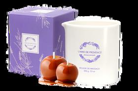 L'Amie de Provence naturalna świeca do masażu o apetycznym zapachu jabłka w karmelu (pomme caramel).