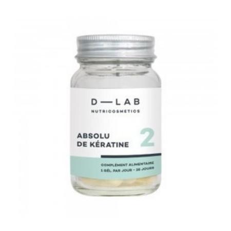 D-LAB Czysta Keratyna suplement diety wzmacniający i przywracający witalność zniszczonym włosom.