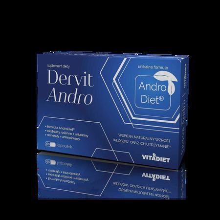 DervitAndro suplement diety dla mężczyzn i kobiet wspomagający łysienie androgenowe.