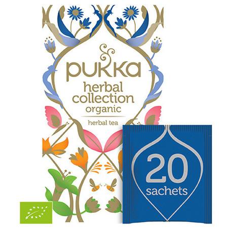 Wyjątkowy zestaw pięciu wybranych herbat PUKKA z certyfikatem Europejskiego Rolnictwa Ekologicznego.