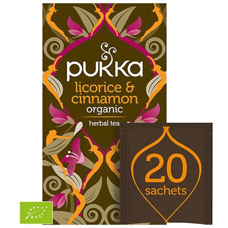 Naturalna Herbata PUKKA Lukrecja & Cynamon BIO